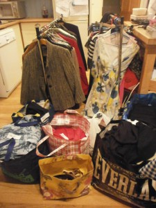 This is how my kitchen looked before the Clothes Swap!