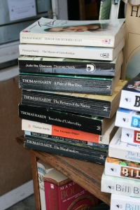 It's not a Dorset bookshop without a pile of Hardy books