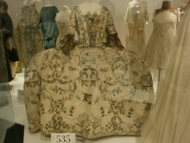 Court dress, dating from the 1760s. Okay, so maybe fashion has changed for the better...