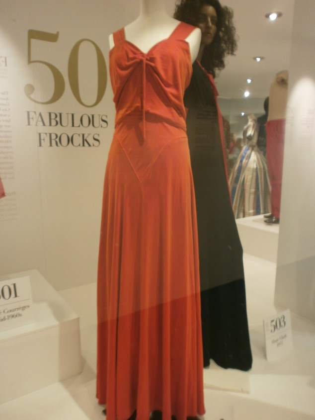 1930s red velvet evening dress