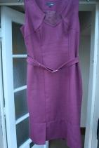 #secondhandfirst week: burgundy pinafore dress