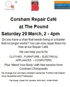 poster repair cafe march