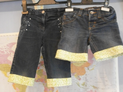 upcycling children's jeans