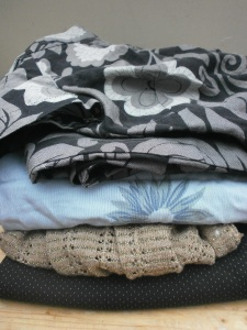 pile for mending, altering and upcycling