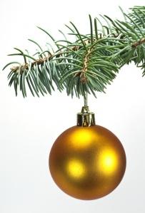 Toys  , Christmas tree ball on ,  branch.