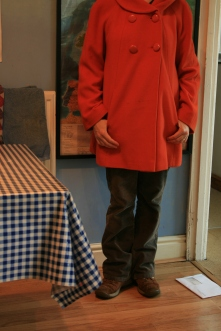 #secondhandfirstweek: brown cords and that orange coat