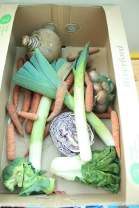 using up the veg box