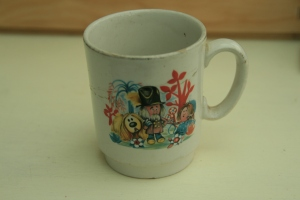 Childhood memories: Magic Roundabout mug bought at a jumble sale