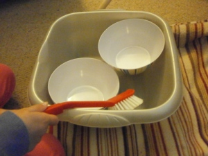Making do with what yo have: washing up by hand