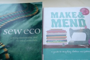 Borrowed books on eco sewing