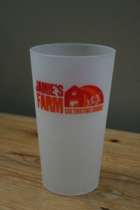re-usable pint glass from Cock & Bull Festival 2015