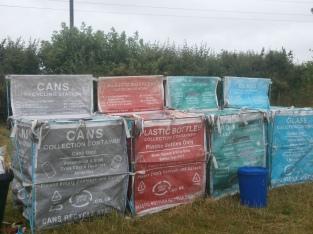 Rubbish sorting at Cock & Bull Festival