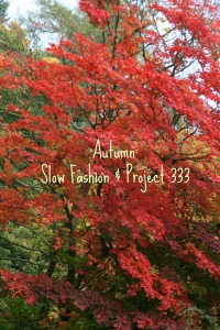 Autumn: slow fashion and project 333