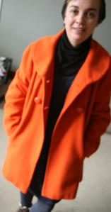 #secondhandfirst week: second-hand orange coat