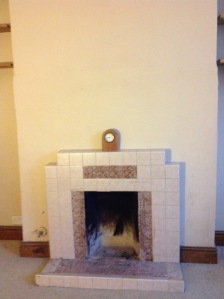 updating fireplace: before