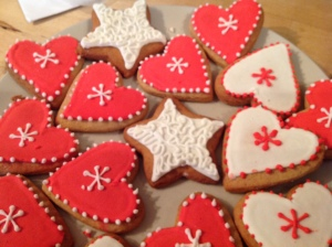 Homemade Christmas biscuits