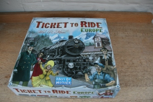 Playing board games: Ticket to Ride (Europe)
