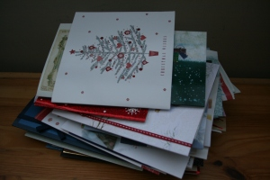 what to do with old Christmas cards?