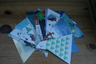 christmas card bunting