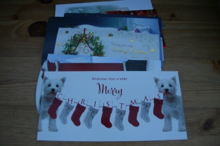 reusing Christmas Cards: thank you notes