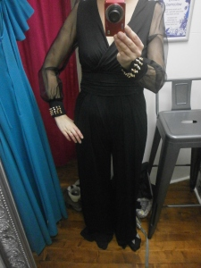 1970s inspired flared jumpsuit
