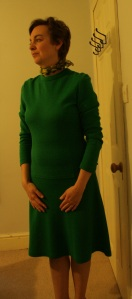 Green 1970s dress