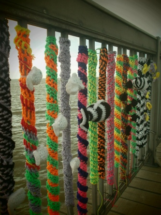 Yarn bombing in Herne Bay