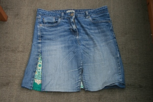 denim skirt made from jeans