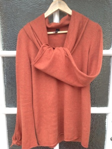 (second-hand) burnt orange Top Shop jumper, bought from Save the Children charity shop in Bath via secondhandtales.wordpress.com