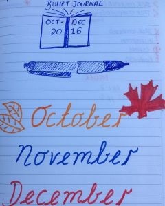 October to December bullet journal via secondhandtales.wordpress.com