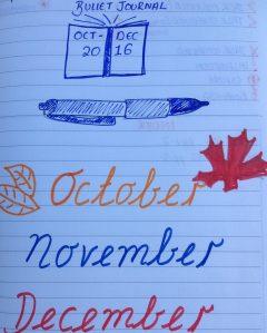 October to December bullet journal via secondhandtales.wordpress.com