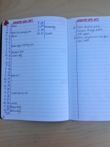 month log bullet journal