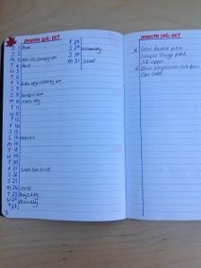 month log bullet journal