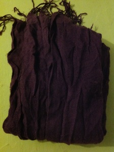 £1 purple shawl