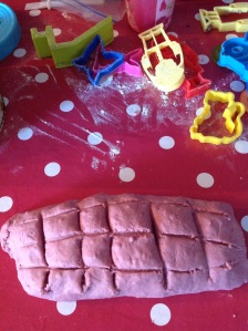 homemade playdough made with natural beetroot dye