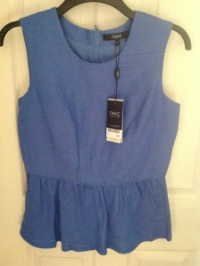 Jumble sale find: blue unworn top from Next