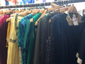 vintage clothing,secondhand shopping, Sue Ryder charity shop