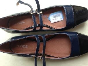 Next blue patent office shoes charity shop haul