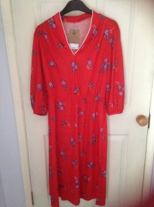 vintage red dress Rokit London
