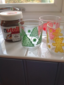 recyled Nutella jars via secondhandtales.wordpress.com